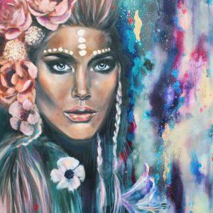 Nicolette FineArt - oil painting goddess Aine