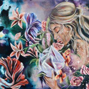 Nicolette van den Hadelkamp Fine art oil painting surrender to grace